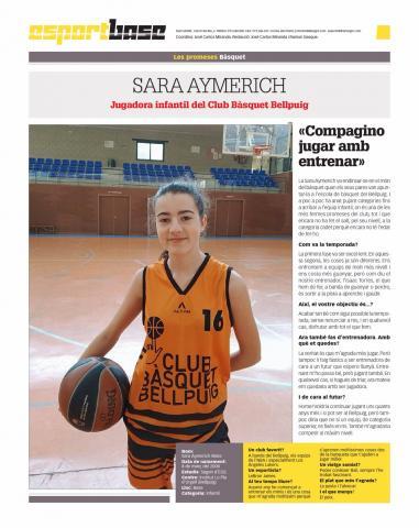 Club Bàsquet Bellpuig_19-20_12_7 Jugadora Sara Aymerich