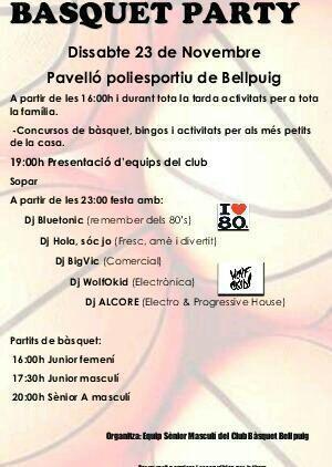 Basquet Party a la presentació dels equips del Club Bàsquet Bellpuig