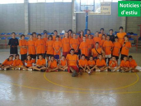 Grup del Primer Campus Club bàsquet Bellpuig 2012