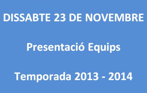 El Club Bàsquet Bellpuig presenta els seus equips el proper dissabte 23 de novembre de 2013