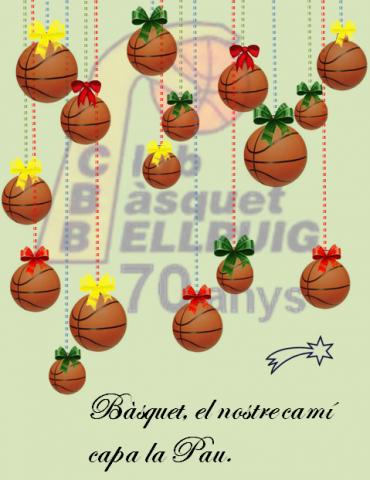 El Club Bàsquet Bellpuig us desitja Bones Festes