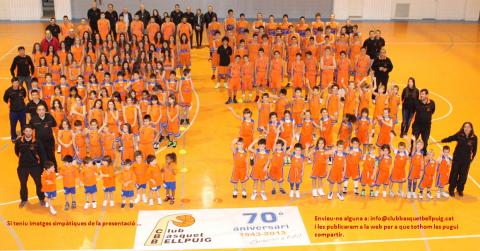 El Club bàsquet Bellpuig presenta el seus equips per a la Temporada 2013-2014
